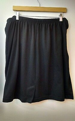 CR&ME Solid Black Maternity Skirt Size XL Polyester Cotton Blend