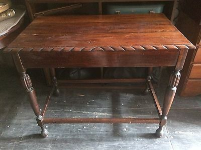 Jacobean timber carved Hall Table white / wedding sign table