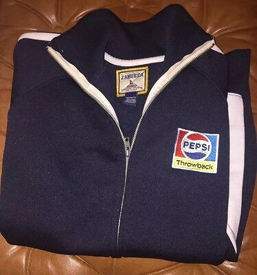 Vintage Pepsi Cola Throwback Track Warmup JACKET Collectible *RARE & Authentic*