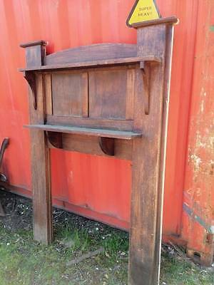 Mantle Mantel timber Fire Place Surround oak Hat coat stand upcycle shelf