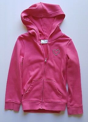 Jumping Beans Girls' PinkHooded Zip-up Sweatshirt with Sequin Heart, Size 5