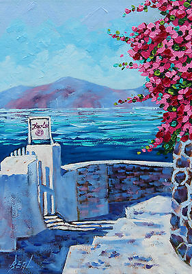 Oil Painting, Artist Original Painting, Greece, Painting on Canvas by RBeal