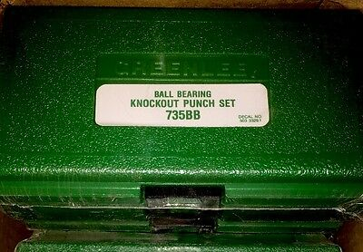 Greenlee 735Bb Knockout Punch Set, Brand New Factory Sealed! Wow!!