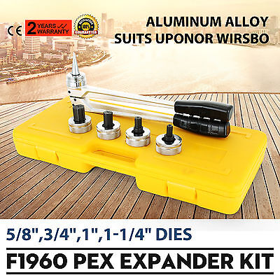"Pex Expander Kit with1/2"",5/8"",3/4"",1"" Heads 25 mm 32mm Expansion Head Pipe Tool"