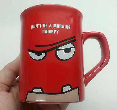 "Nescafe Collectable  Advertising Coffee Mug Cup  ""dont Be A Morning Grumpy"""