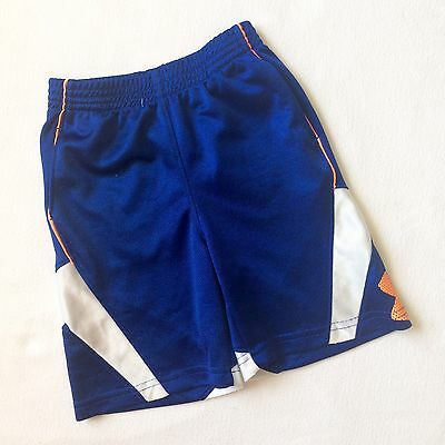 Boys Under Armour Loose Bright Blue Athletic Shorts With Pockets 2T