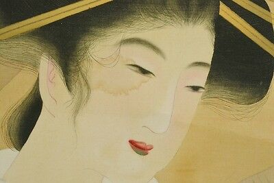 Hanging Scroll Japanese Beauty Painting Japan Asian Art Pic Antique Picture b107