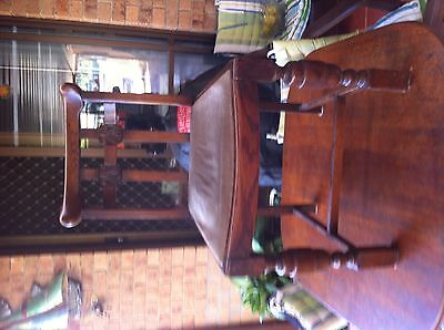 Antique English Oak Dining Chairs