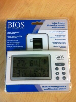 Bios Thermor 312BC INDOOR/OUTDOOR WIRELESS THERMOMETER AND HYGROMETER