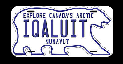 Nunavut Iqaluit Personalized Any Name Custom Car License Plate