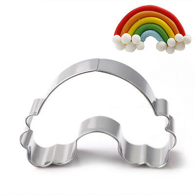 Stainless Steel Rainbow Biscuit Cookie Cutter Cake Pastry Decorating Mold Mould