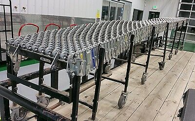 NICE up to 24' Long EXPANDABLE Best Flex Gravity Roller Conveyor 2 FEET WIDE 24""
