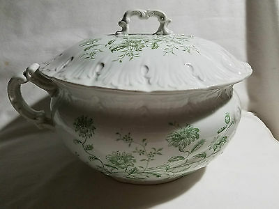 Antique Ironstone Porcelain Chamber Pot with Lid