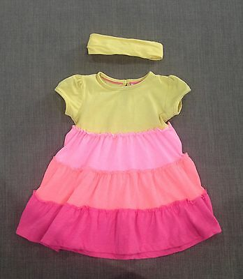 Baby Girls Yellow & Pink Outfit Set VGUC, Size 0