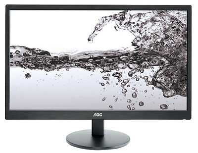 AOC e2270Swn 21.5-inch Full HD Black Computer Monitor