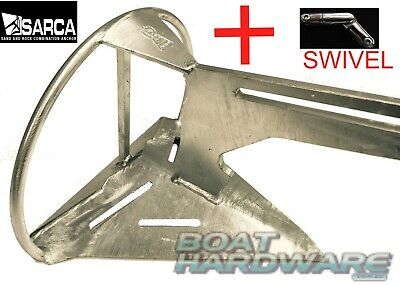 Anchor & 3 Way 316 SS Swivel PACK Genuine Super Sarca No2 6KG Suits 4-6.5m Boat