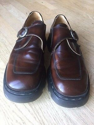 Frye Men's Brown Dress Shoes Loafers Leather Size 10