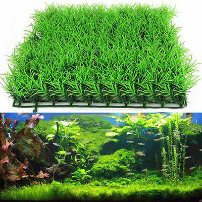 Artificial Water Aquatic Green Grass Fish Tank Plant Lawn Aquarium Landscape New