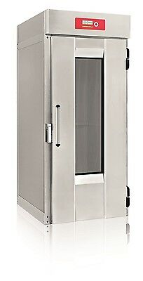 Automatic hot bread proofer bakery with hot/steam generator for 1 rack made