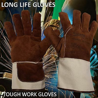 Welding Fire Work Gloves Cow Shoulder Leather Hand Protection Gloves