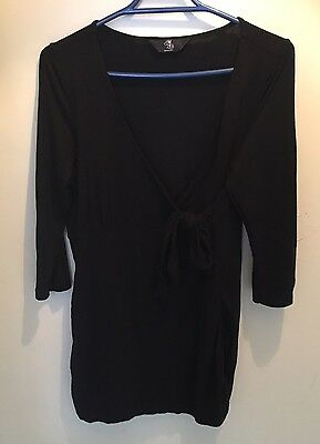 Black Mothercare Maternity/Breastfeeding Top In Size 12