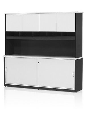 Wall Unit with pigeon hole Storage Cupboard Cabinets Office Furniture Clearance
