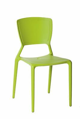 Restaurant CHAIR Replica Viento Stackable Cafe Dining Chairs Wasabi Green