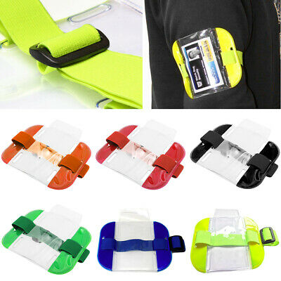 New Tactical ID Arm Band Security Badge Card Holder HI VIZ Doorman Armband SIA