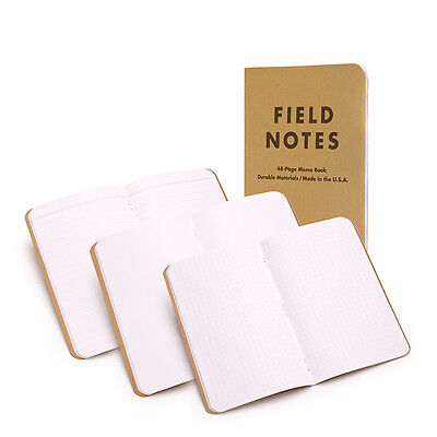 Field Notes Original Mixed, Plain/Ruled/Graph, 3-Pack