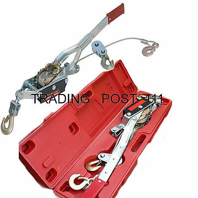 Neilsen 4 Ton Hand Puller Winch Car Trailer Tree Roots 3 Hook System / 0515