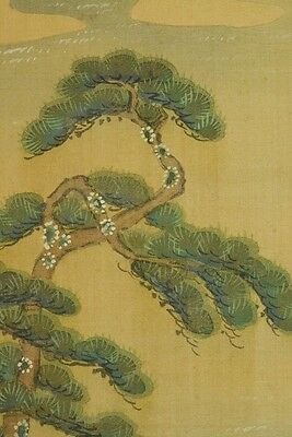 Hanging Scroll Japanese Painting 光貞 土佐 Landscape Asian Art Picture Japan a978