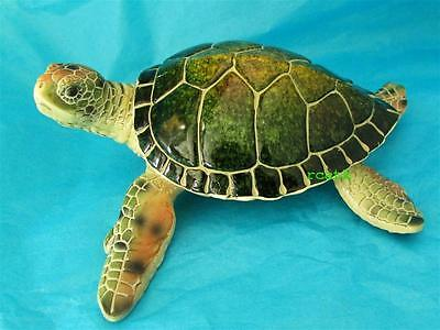 SEA TURTLE GREEN Golden Pond RESIN Realistic Sculpture FREE SHIPPING