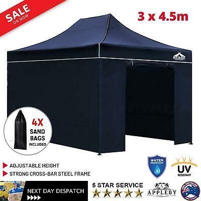 3 x 4.5M Gazebo Outdoor Pop Up Tent Folding Marquee Party Wedding Camping Canopy