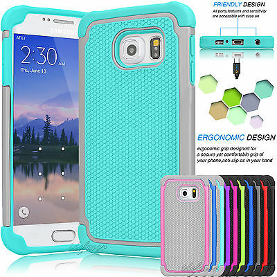 For Samsung Galaxy S7 / S7 Edge Armor Shockproof Rugged Rubber Hard Case Cover