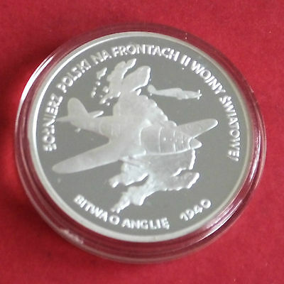 Poland 1991 Battle Of Britain Silver Proof 100000 Zlotych