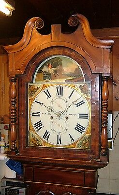 Georgian Oak, Mahogany & Inlaid 8 day Antique Longcase Grandfather Clock C1830