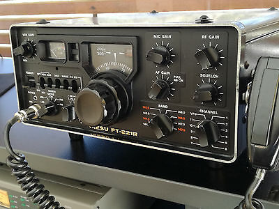 YAESU FT-221R VHF All Mode Transceiver from 1977, Mutek Front End, RARE!