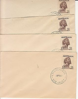 AUSTRALIA 4 X 2/6d BROWN ABORIGINE FIRST DAY COVER