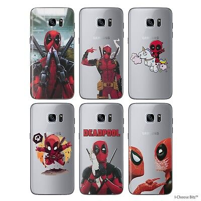 Deadpool Case/Cover Samsung Galaxy S6 S7 Edge + Screen Protector / Silicone Gel