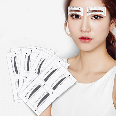 8 Pair NEW Eyebrow Thrush Card Makeup Aid Stencils Mold Cosmetic Accessories
