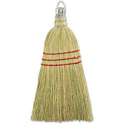 Boardwalk Yellow Wood Handle Corn Fiber Bristles Whisk Broom, 12 count