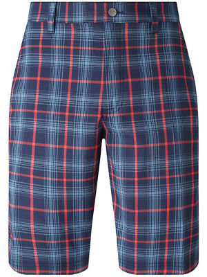 Callaway Plaid Printed Short - Peacoat