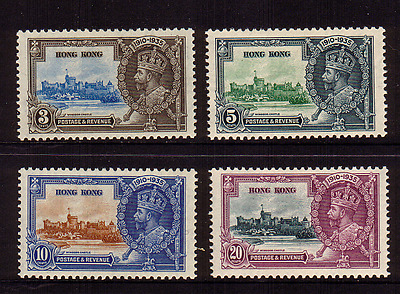 Hong Kong...1935 Silver Jubilee...set Of 4...mint Light Hinged