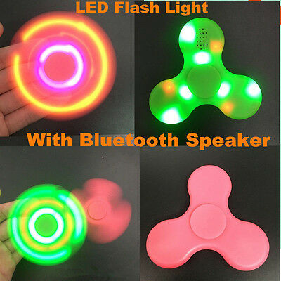 Bluetooth Speaker LED Fidget Spinner Hand Finger EDC Focus Gyro Gift Toy