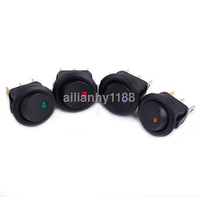 4x Small Waterproof ON/OFF Car Round Rocker Dot Boat LED Light Toggle Switch CA