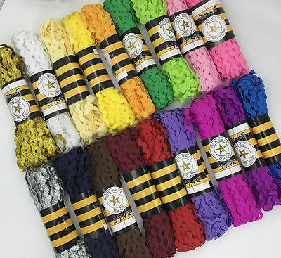15Yards/Lot 7mm wide S edge waves Lace ribbon garment accessories baby lace Trim