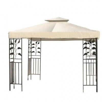 3m X 3m Garden Canopy Gazebo Replacement Top Ivory White. KOVAL INC.