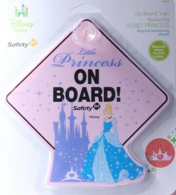 Safety 1st Disney Princess Cinderella Baby on Board Car Window Sign. Brand New