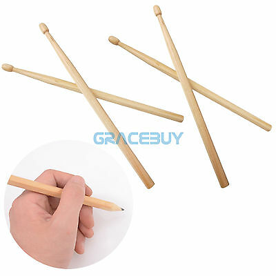 225mm 2 Pairs Drumstick Pencils Drawing Christmas Gift 2 Lead Wooden Drummer Pen