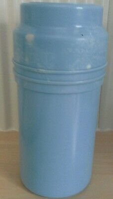 Antique / Vintage Blue Bakelite Thermos . Made in England 1925